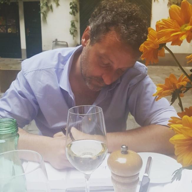Our first date. June 11, 2015. ef16 Restaurant Weinbar, Vienna, Austria.