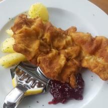 Schnitzel at Wolfgangsee, Austria