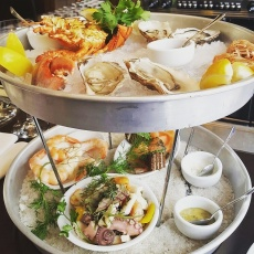 Seafood Tower at the Markthalle Oyster Bar